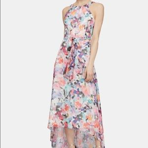 SLNY metallic printed maxi dress 12